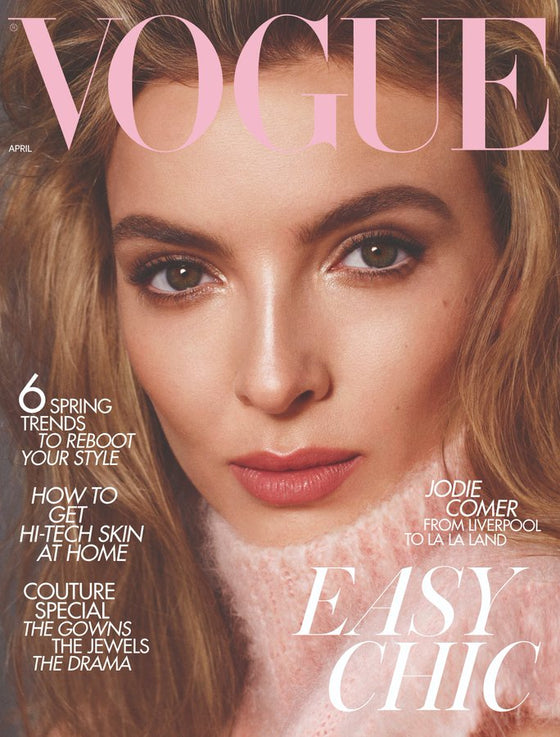 UK Vogue Magazine April 2020: JODIE COMER Killing Eve Cover