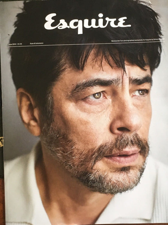 ESQUIRE UK Magazine June 2018: Star Wars BENICIO DEL TORO LTD SUBSCRIBERS COVER
