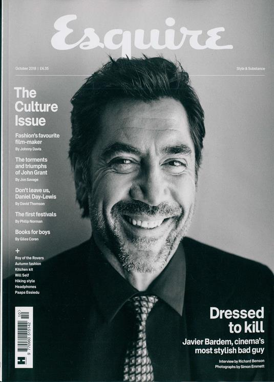 BRITISH ESQUIRE MAGAZINE OCTOBER 2018: JAVIER BARDEM
