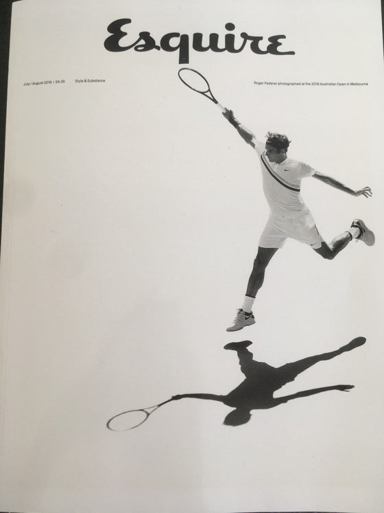 .ESQUIRE UK Magazine July 2018: ROGER FEDERER Jeremy Renner