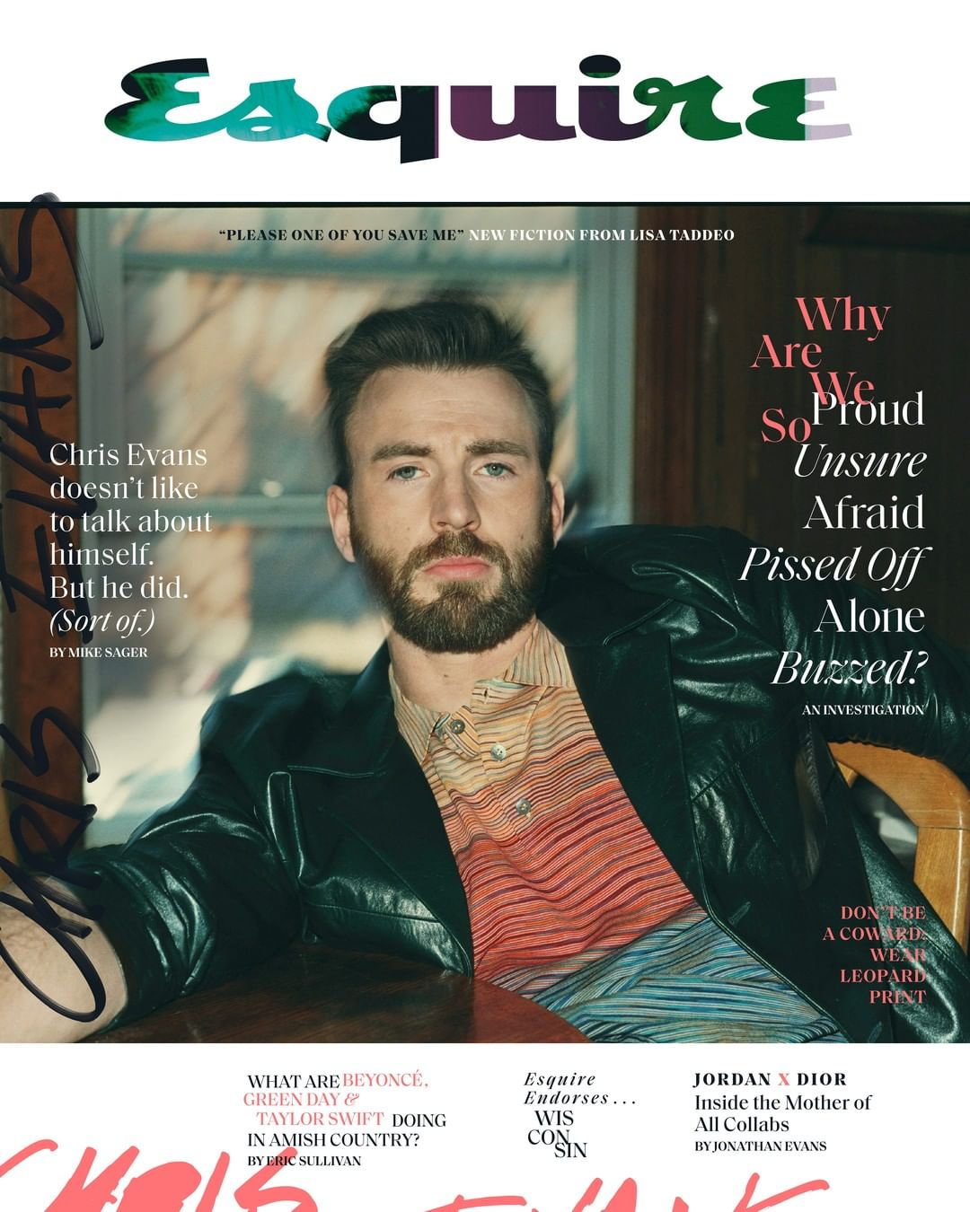 US Esquire Magazine April 2020: Chris Evans Cover