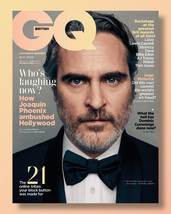 BRITISH GQ MAGAZINE MAY 2020: JOAQUIN PHOENIX - THE JOKER COVER