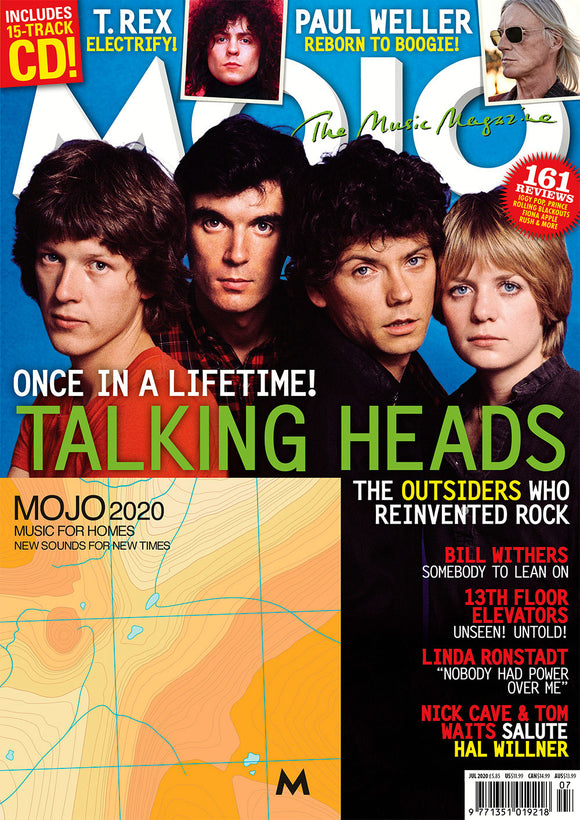 UK Mojo Magazine July 2020: TALKING HEADS Nick Cave DAVID BYRNE Paul Weller & CD