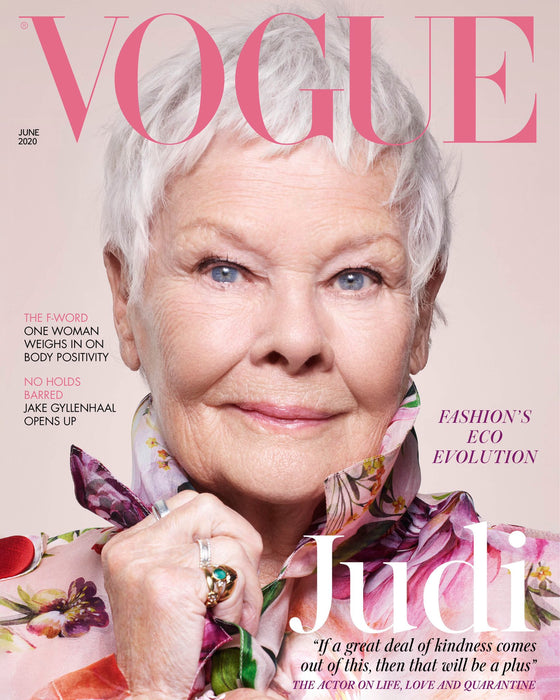 JUDI DENCH - VOGUE MAGAZINE UK JUNE 2020 BRITISH EDITION NEW (damaged spine)