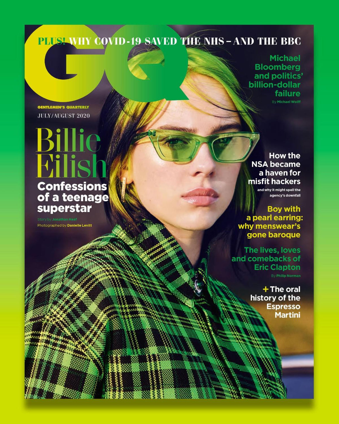 British GQ Magazine July 2020: Billie Eilish Cover