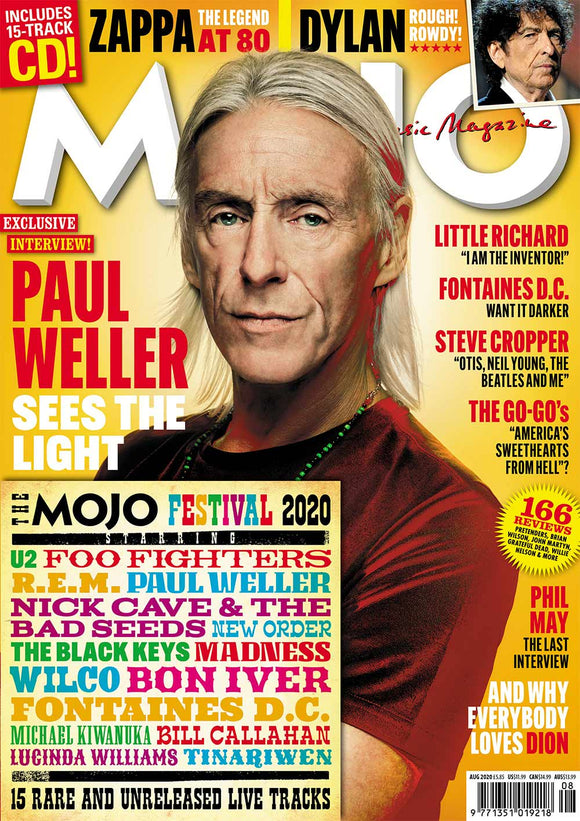 UK Mojo Magazine August 2020: PAUL WELLER Bob Dylan & Free Festival CD