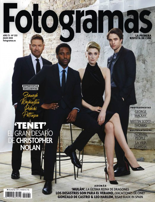 NEW!! ROBERT PATTINSON TENET GEORGE MACKAY NOLAN FOTOGRAMAS Magazine July 2020