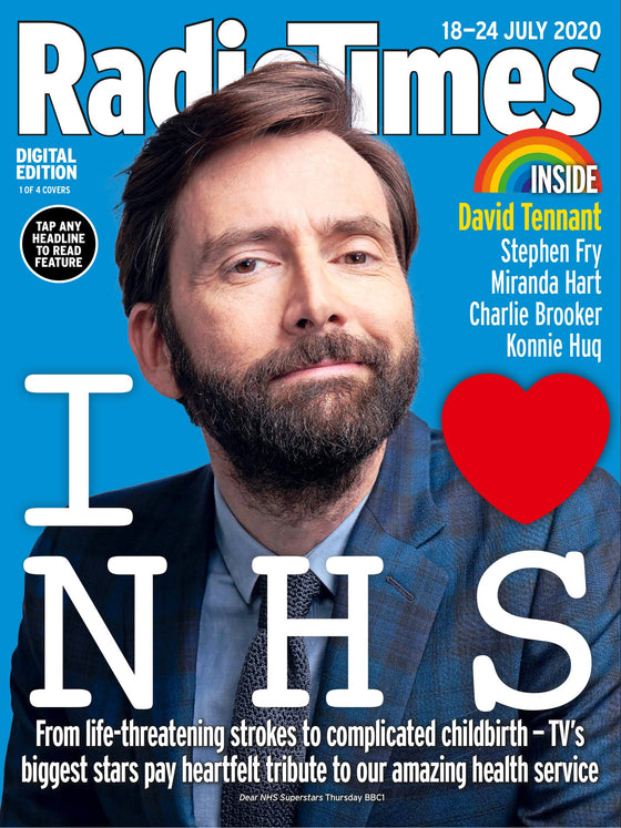 UK Radio Times Magazine 18 July 2020: David Tennant (1 of 4 Covers)