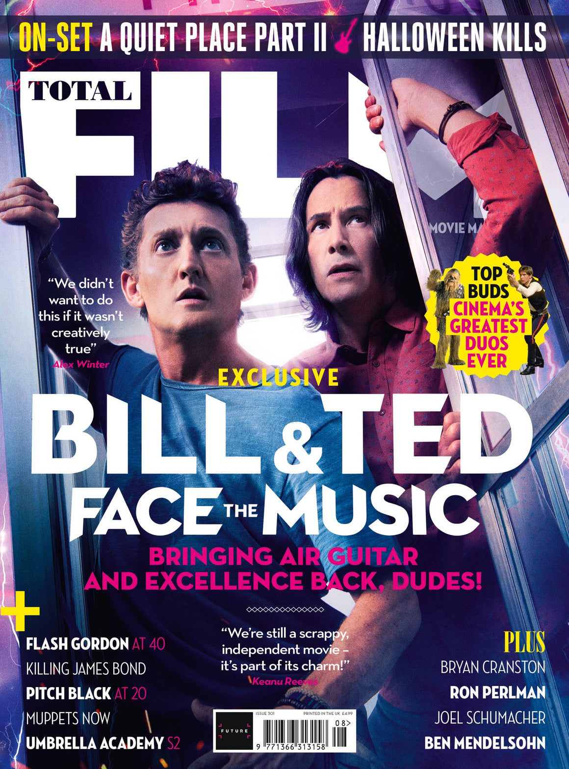Total Film Magazine August 2020: KEANU REEVES BILL & TED FACE THE MUSIC COVER