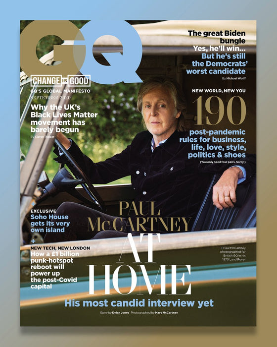 British GQ Magazine September 2020 Sir Paul McCartney The Beatles