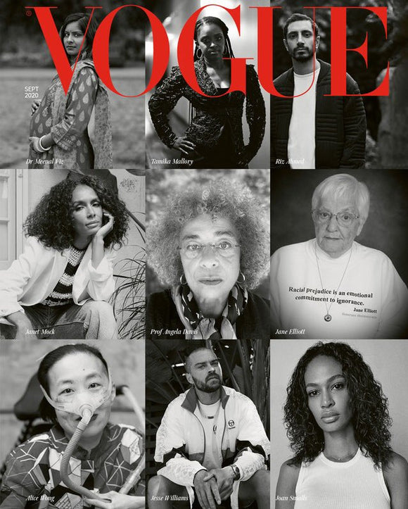 RIZ AHMED - MARCUS RASHFORD - VOGUE MAGAZINE UK SEPTEMBER 2020 BRITISH EDITION
