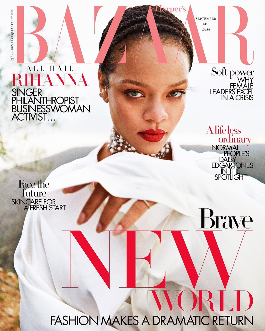 RIHANNA - HARPER'S BAZAAR MAGAZINE UK SEPTEMBER 2020 BRITISH EDITION NEW