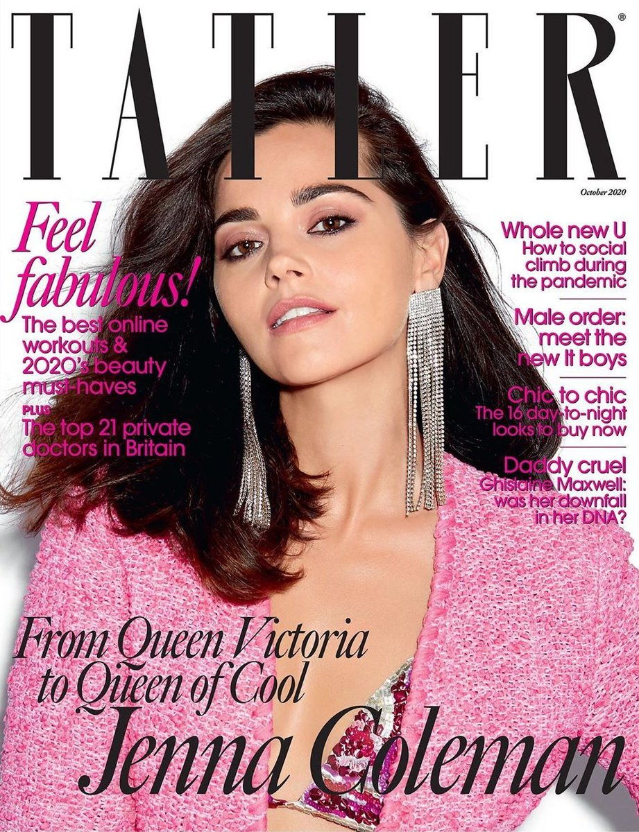 UK Tatler Magazine OCTOBER 2020: JENNA COLEMAN COVER FEATURE