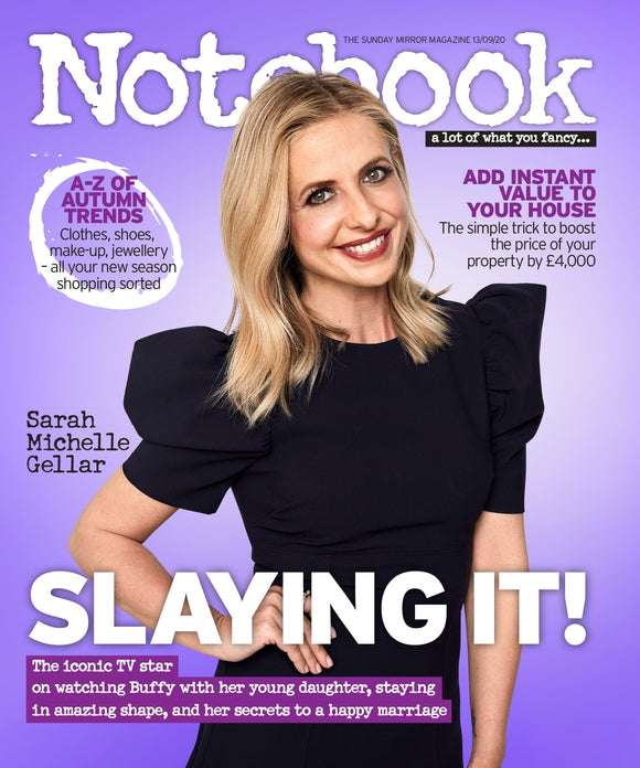UK Notebook Magazine Sept 2020: SARAH MICHELLE GELLAR Buffy The Vampire Slayer