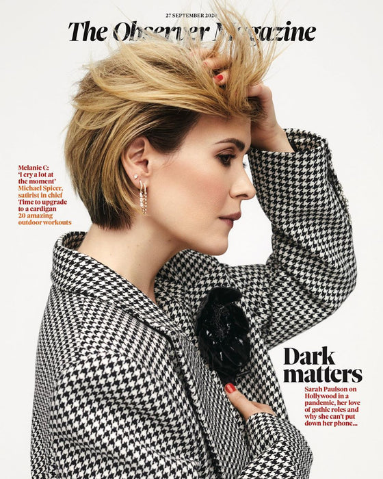 OBSERVER magazine 27 September 2020 Sarah Paulson cover and interview