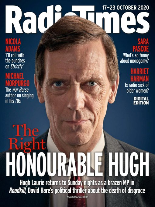 UK Radio Times 17 October 2020: HUGH LAURIE COVER FEATURE Roadkill