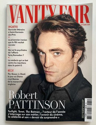 Vanity Fair France November 2020: Robert Pattinson Cover (Pre-Order)