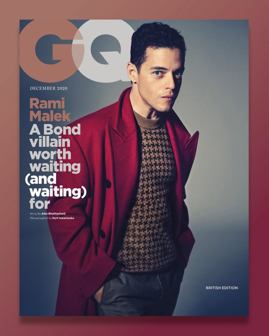 British GQ Magazine December 2020: Rami Malek