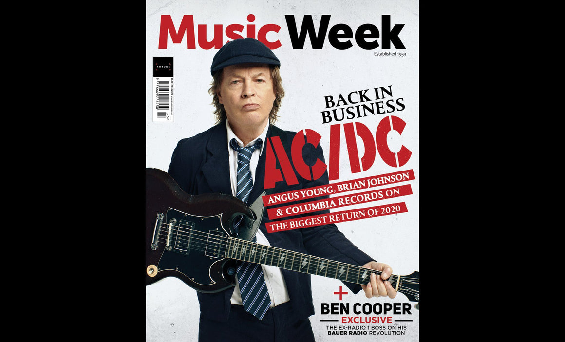Music Week Magazine October 2020: AC/DC BRIAN JOHNSON ANGUS YOUNG COVER