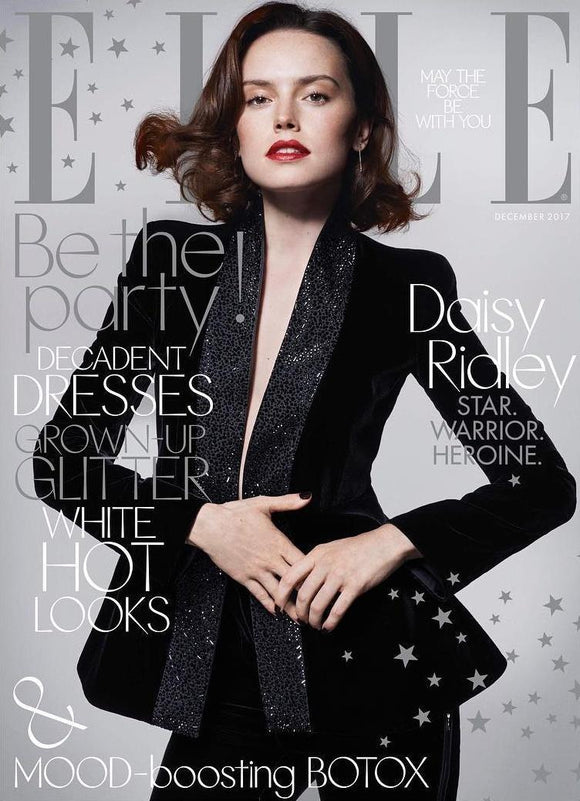 UK Elle Magazine Cover with Daisy Ridley