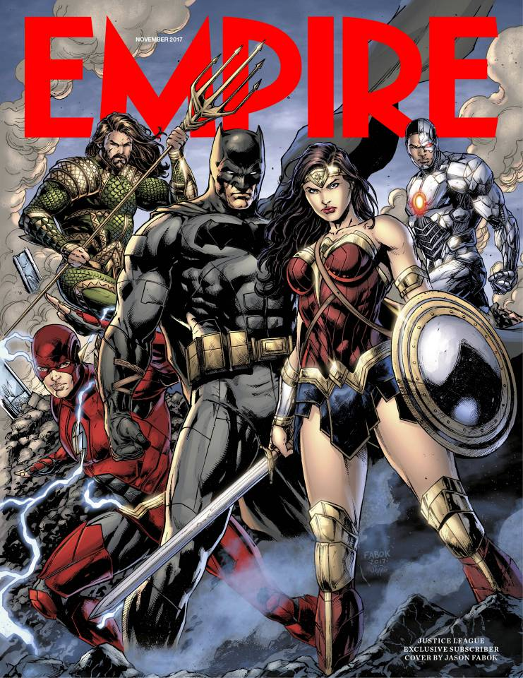 Empire Magazine November 2017 Justice League Cover.