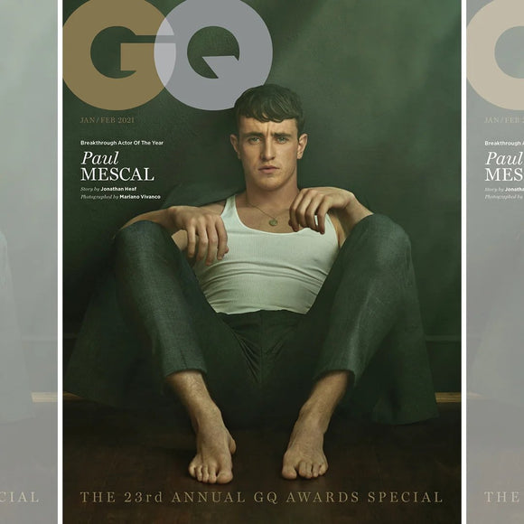 PAUL MESCAL - NORMAL PEOPLE GQ MAGAZINE UK JAN/FEB 2021 BRITISH EDITION NEW