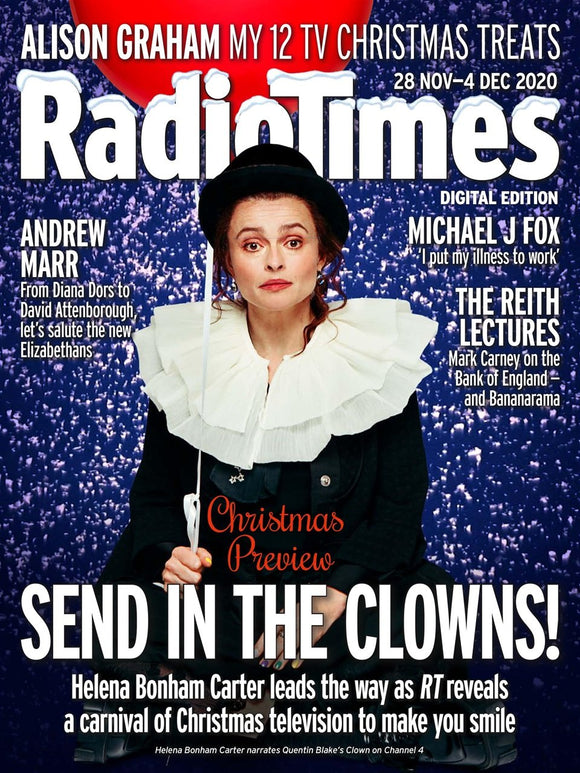 UK Radio Times Magazine 28 Nov 2020: HELENA BONHAM CARTER COVER FEATURE