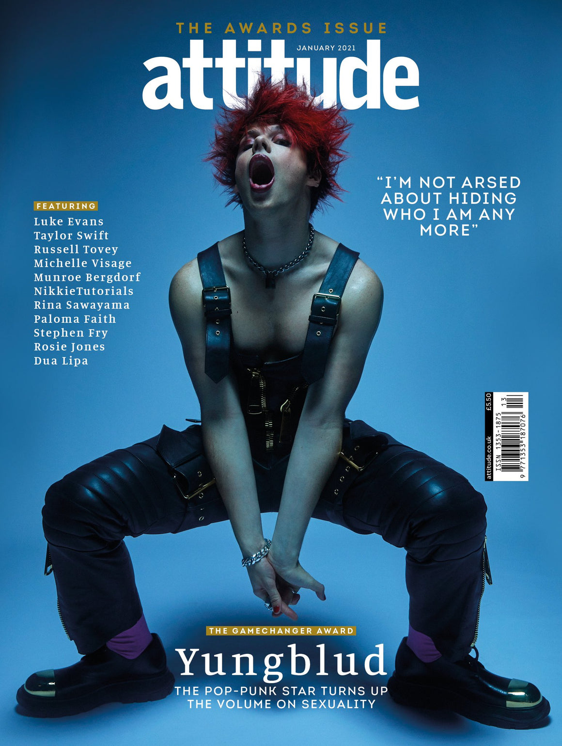 Attitude Magazine Issue 330 Yungblud cover