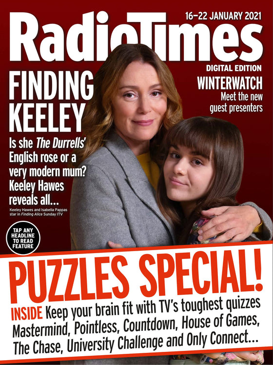 UK Radio Times Magazine Jan 16th 2021: KEELEY HAWES Joe Absolom RUSSELL T DAVIES