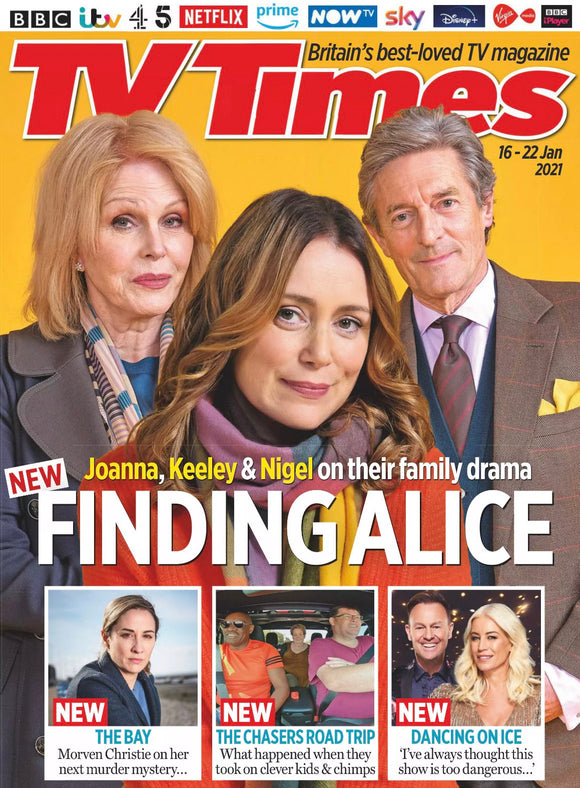 TV Times Magazine 16 Jan 2021 Keeley Hawes Joanna Lumley