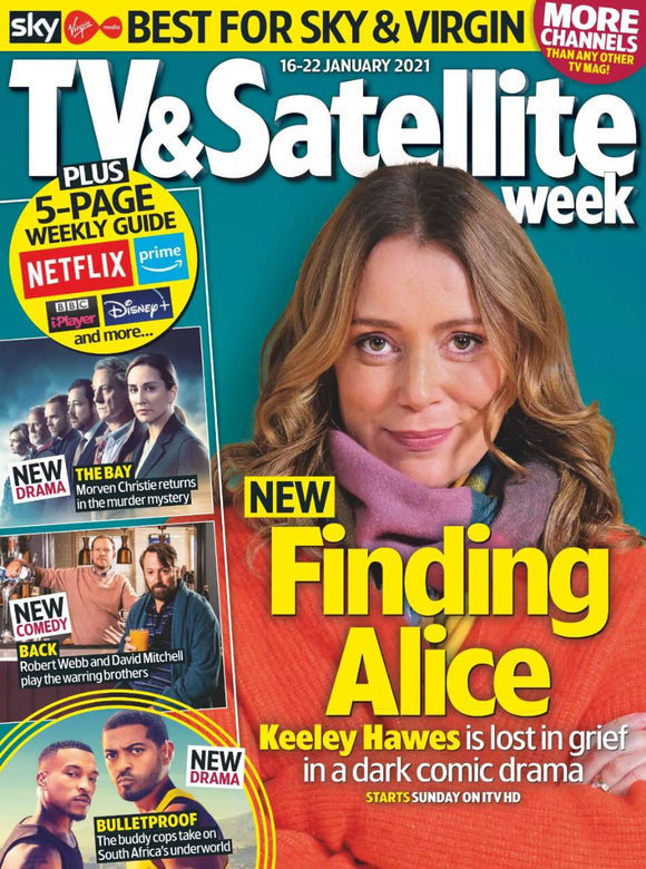 TV & Satellite Magazine 16 Jan 2021: Keeley Hawes Alison Brie