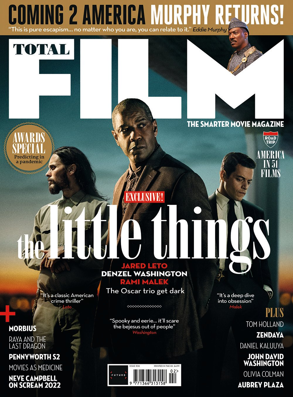 UK Total Film Magazine #308: the little things EXCLUSIVE Jared Leto Rami Malek