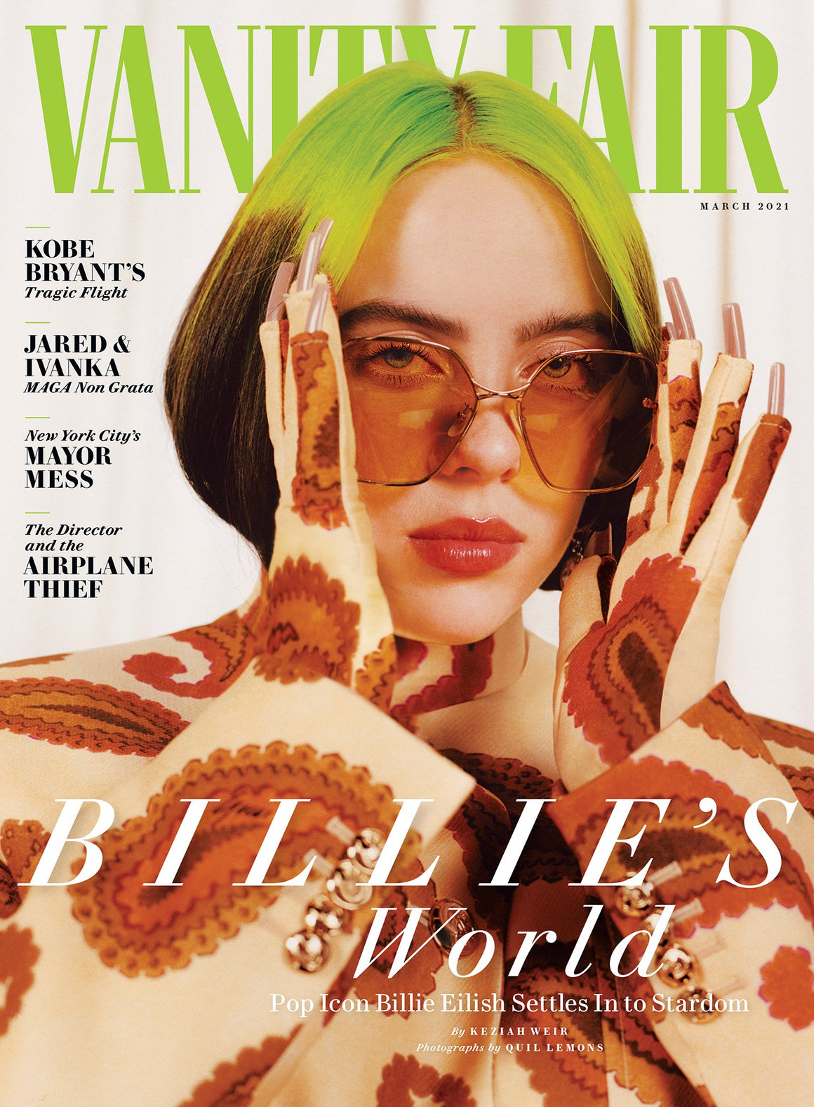 Us Vogue Magazine March 2020 Billie Eilish Cover Yourcelebritymagazines
