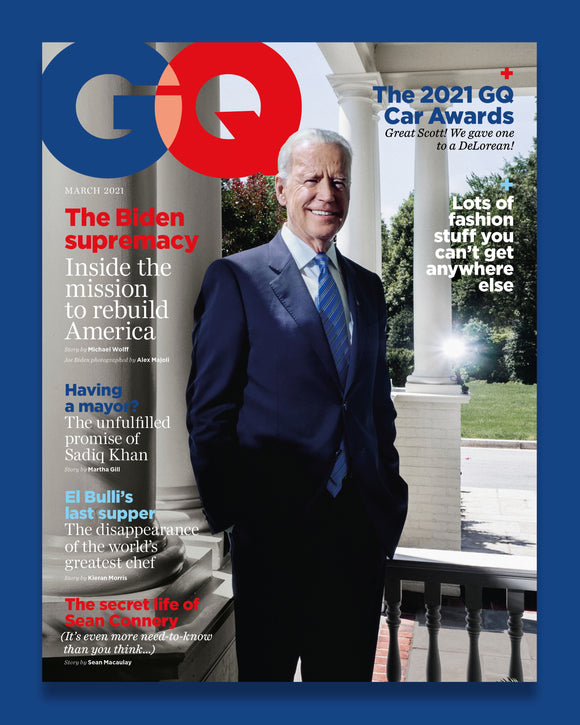 US PRESIDENT JOE BIDEN GQ MAGAZINE UK MARCH 2021 NEW - SEAN CONNERY James Bond