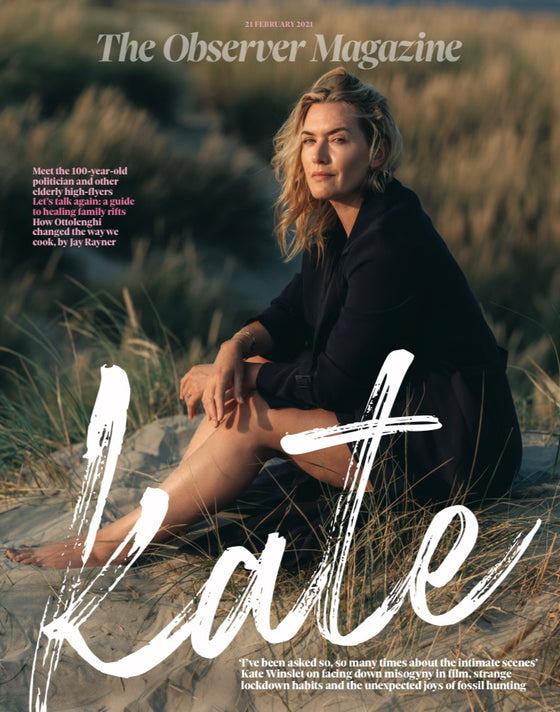 UK Observer Magazine February 2021 KATE WINSLET COVER FEATURE