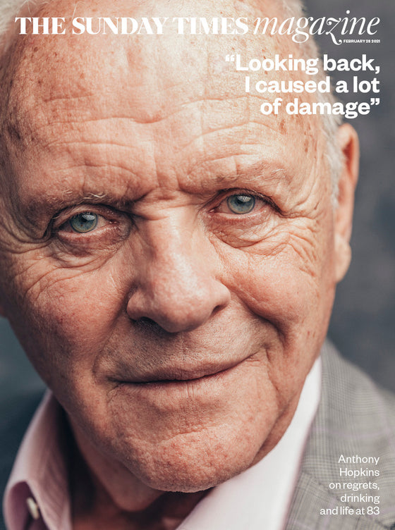 UK SUNDAY TIMES Magazine Feb 2021: SIR ANTHONY HOPKINS COVER