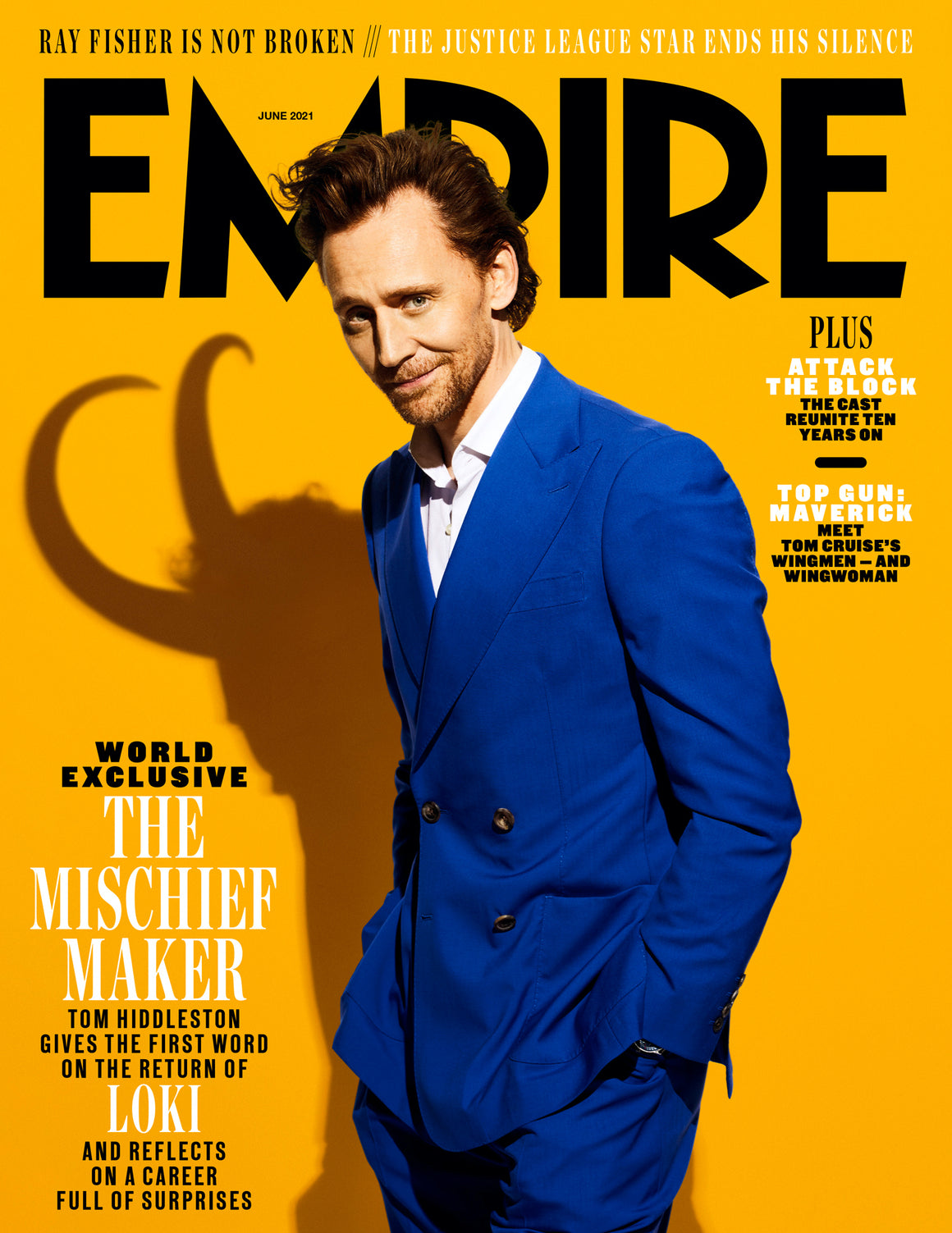 UK Empire Magazine June 2021: TOM HIDDLESTON LOKI WORLD EXCLUSIVE