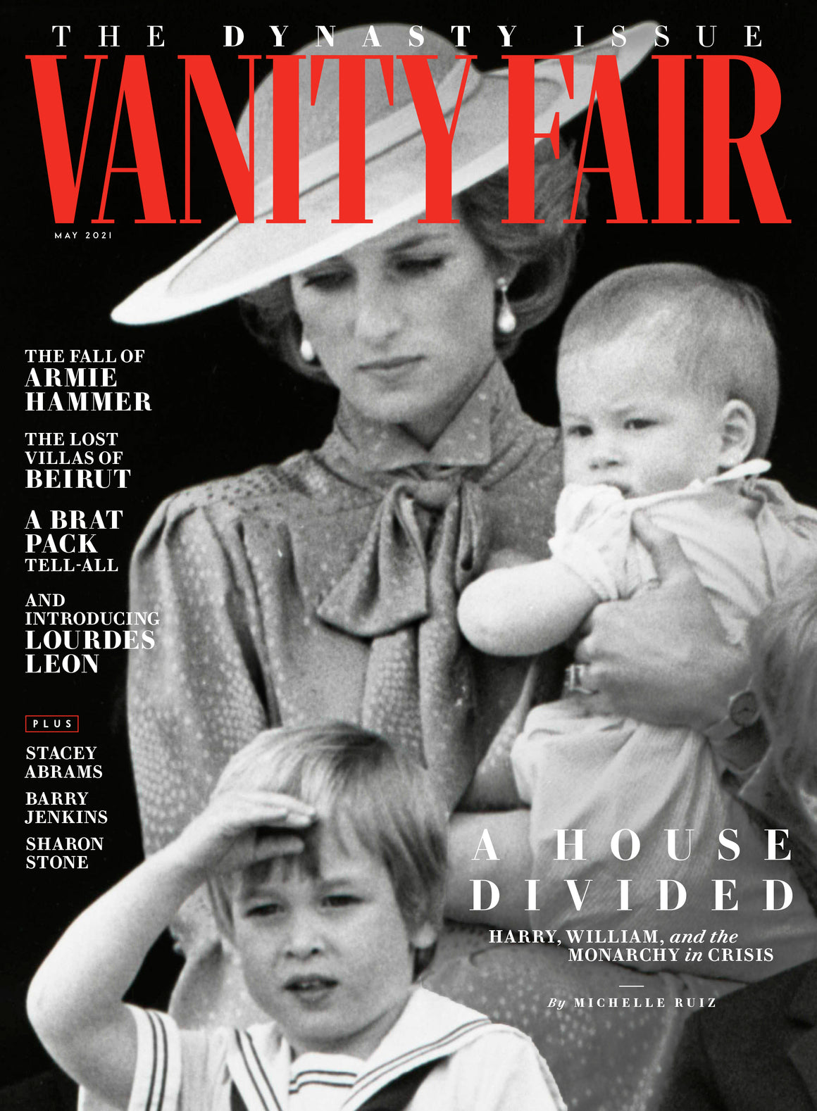 British VANITY FAIR Magazine May 2021: PRINCESS DIANA PRINCE HARRY & WILLIAM