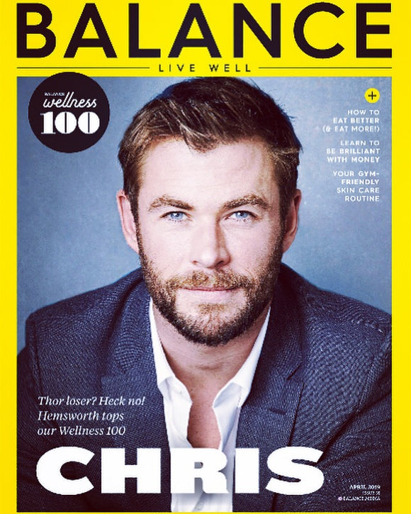 UK Balance Magazine April 2019: CHRIS HEMSWORTH interview AVENGERS: ENDGAME