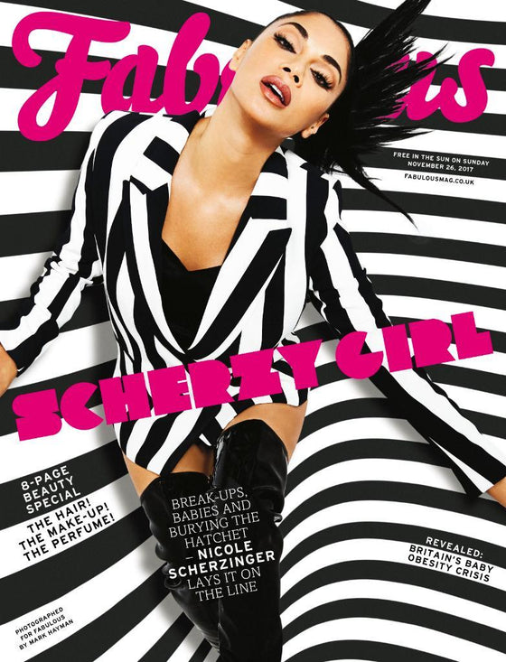 UK Fabulous Magazine November 2017: NICOLE SCHERZINGER COVER & INTERVIEW