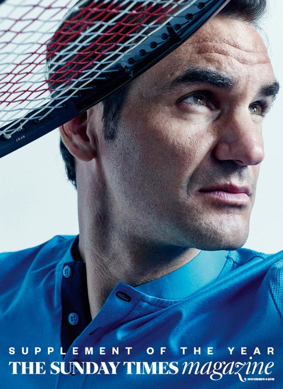 UK Sunday Times Magazine November 2018: ROGER FEDERER COVER STORY
