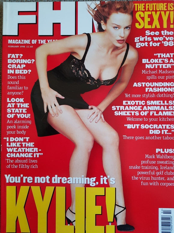 UK FHM Magazine - Kylie Minogue - February 1998