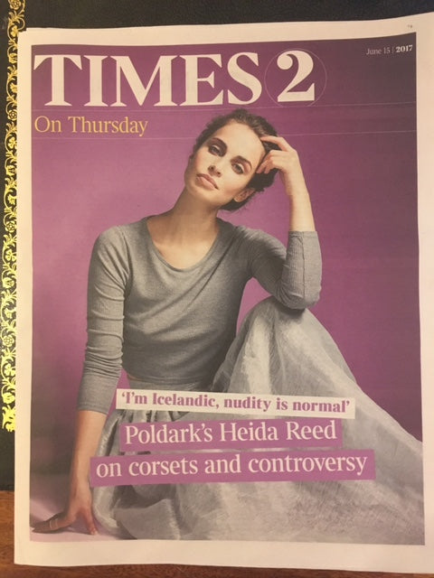 UK Times 2 Supplement June 2017 Heida Reed Aidan Turner Poldark