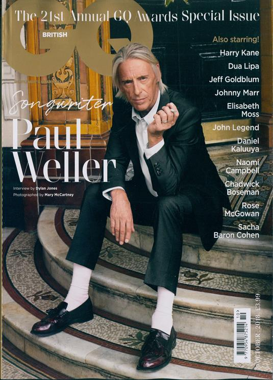 British GQ Magazine October 2018 Paul Weller Cover