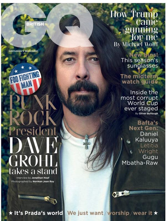 British GQ Magazine June 2018 Dave Grohl The Foo Fighters Cover