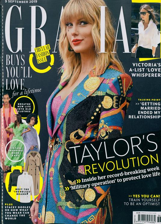 GRAZIA magazine 9 September 2019: TAYLOR SWIFT COVER AND FEATURE