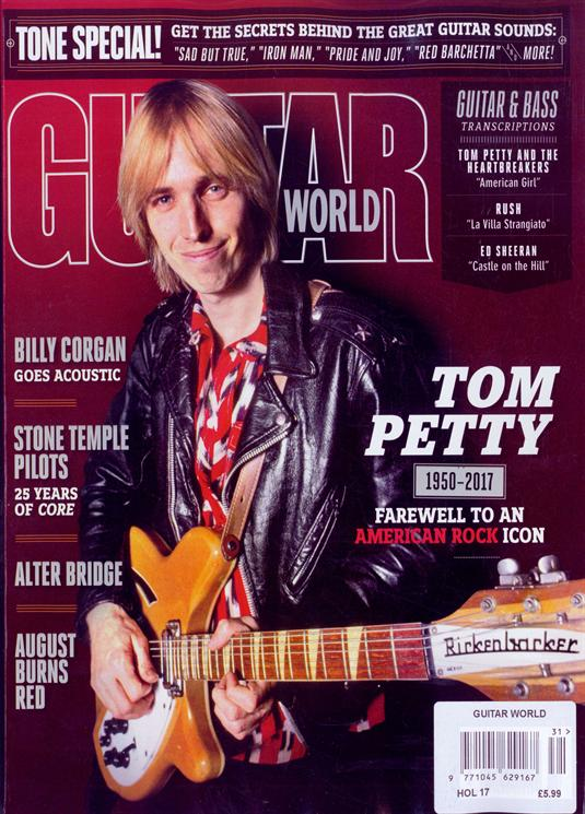 US Guitar World Magazine Holidays 2017 Tom Petty Special Tribute Cover