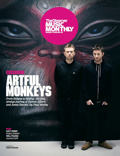Damon Albarn and Jamie Hewlett The Gorillaz UK Observer Music Monthly Magazine July 2008
