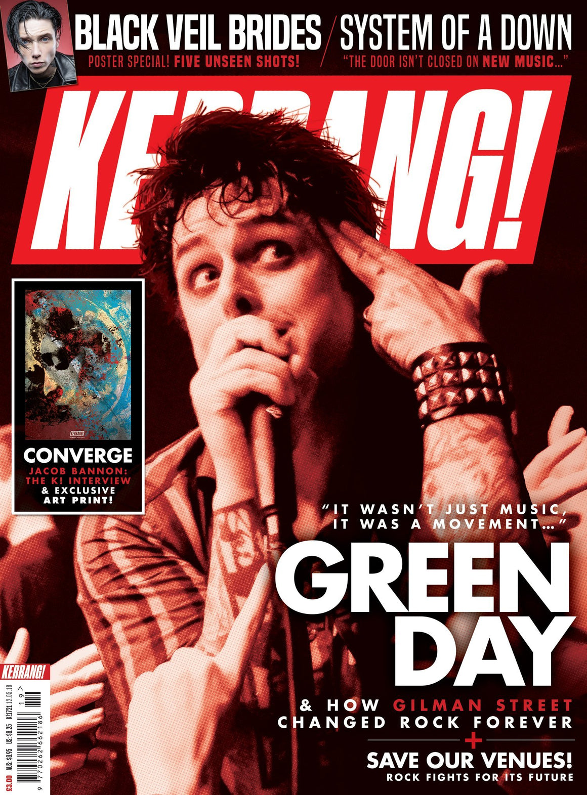KERRANG magazine 12 May 2018 - Green Day Converge Black Veil Brides SOAD