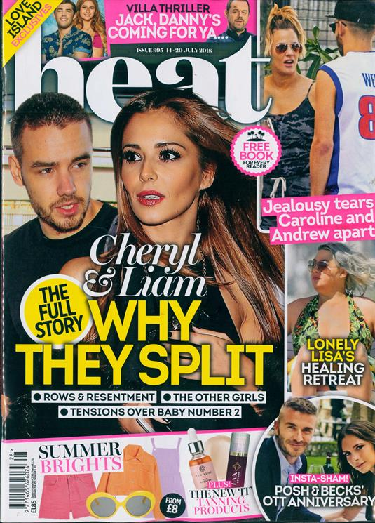 UK Heat Magazine July 2018: LIAM PAYNE & CHERYL - WHY THEY SPLIT!